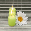 Candles and flower — 图库照片