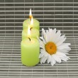 Candles and flower — Stok fotoğraf #1948569