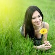 Beautiful woman with flower — Stock Photo #1949314