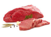 Fresh beef on white background — Stock Photo
