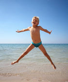 Boy jumping — Stock Photo