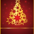 Royalty-Free Stock Vector Image: Card with New Year tree
