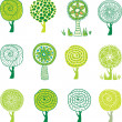 Royalty-Free Stock Imagen vectorial: Set of tree