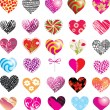 Set of hearts - Imagen vectorial