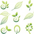 Set of leaf design elements — Stock Vector #2002378