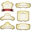Set of label design elements — Stock Vector