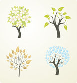 Season tree — Stock Vector