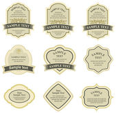 Set of vector labels — Stock Vector