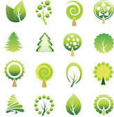 Set of tree — Stock Vector