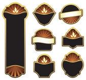 Conjunto de elementos de diseño de etiqueta — Vector de stock