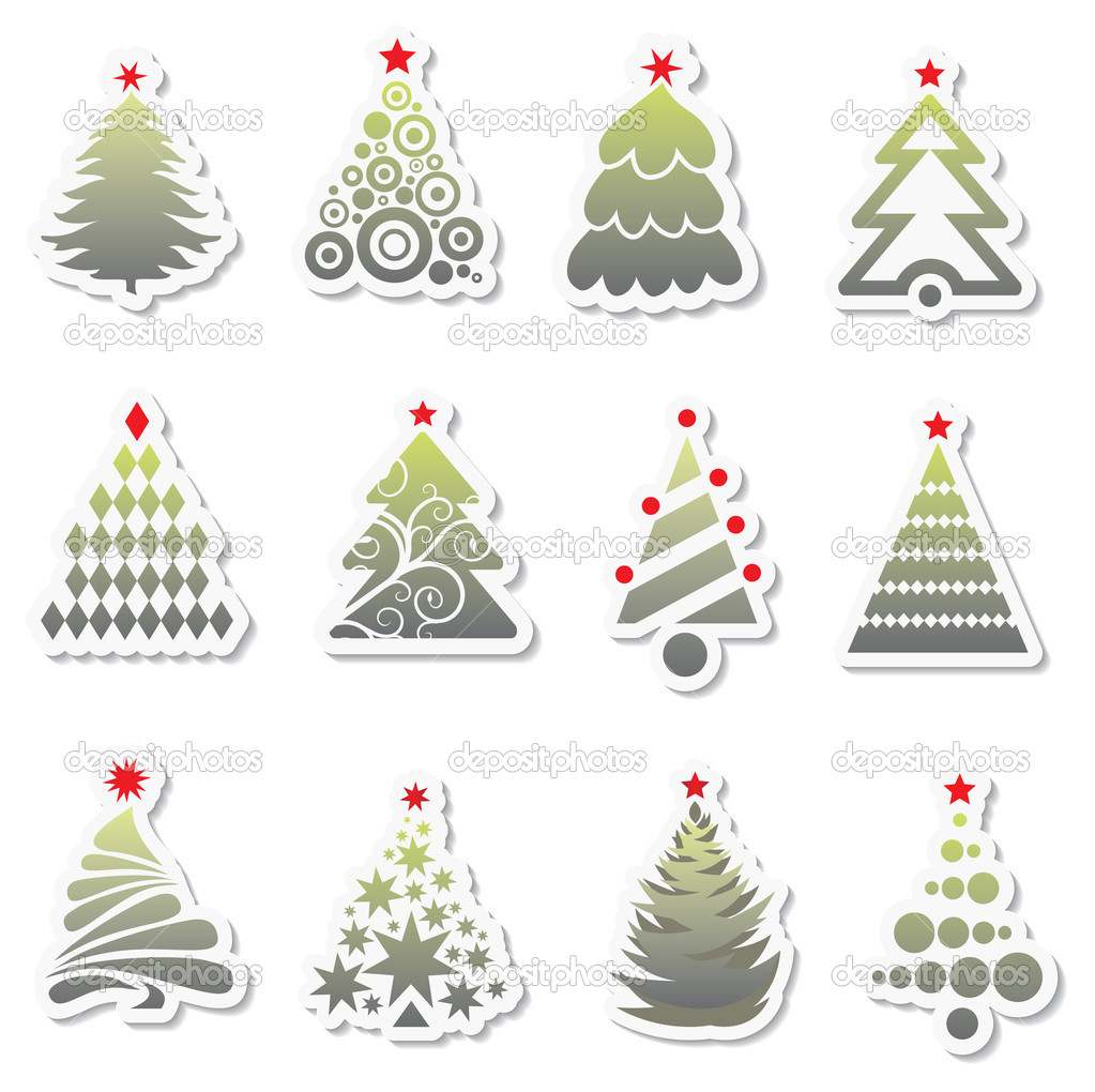 Set of New Year tree — Stock Vector #2001206
