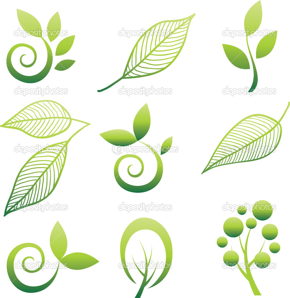 Leaf design element set Free vector in Adobe Illustrator ai ( .AI ...