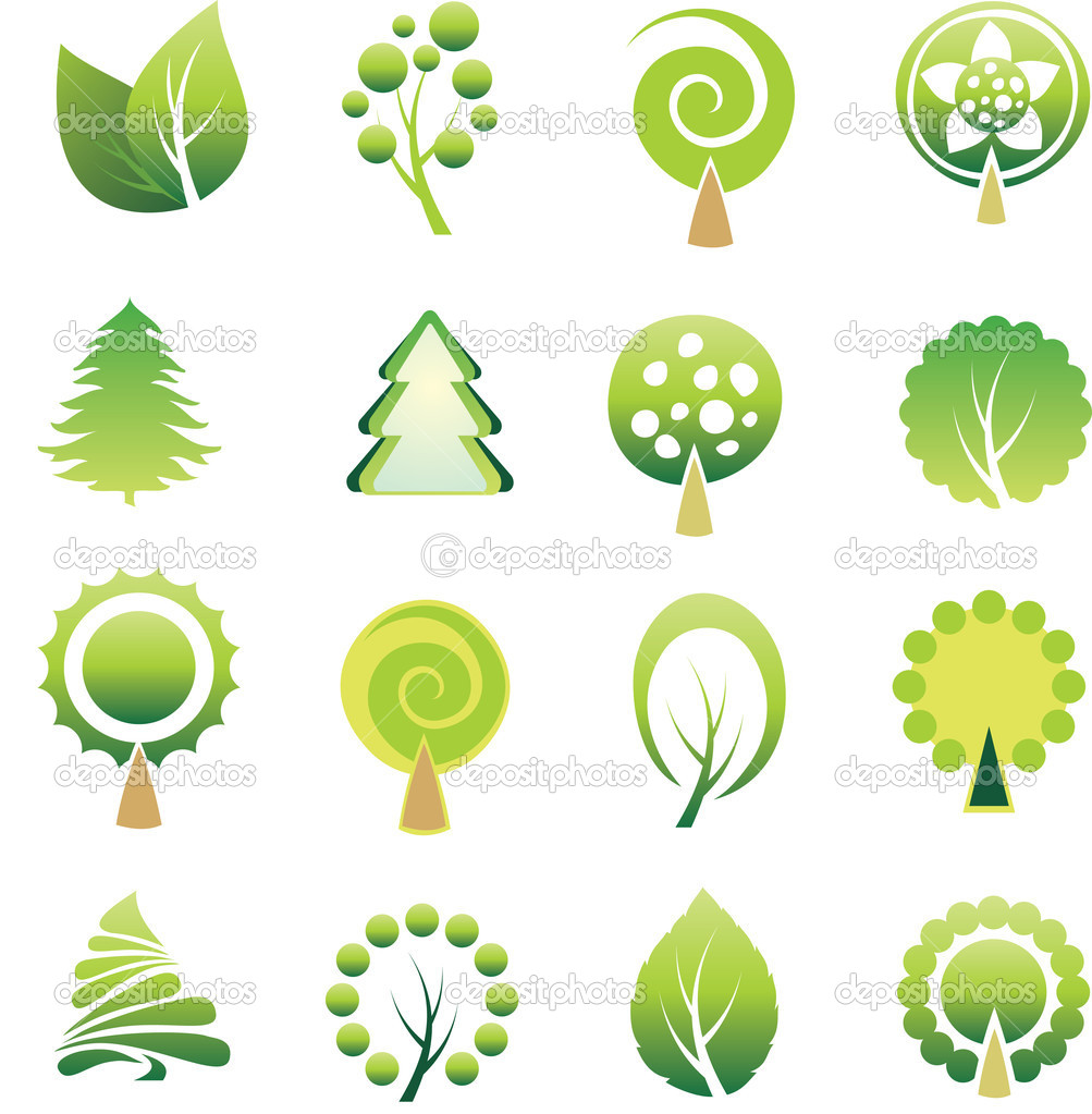 Set of tree — Stock Vector #2002389