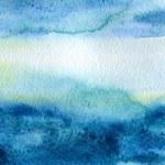 abstraite main aquarelle peinte backgro — Photo