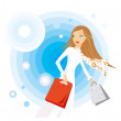 Shopping woman — Stock Vector