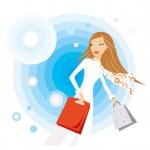 Shopping woman — Stock Vector #2189455
