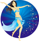 Belly-dance woman — Stock Vector