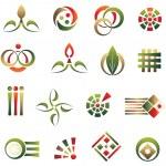 Set of logo design elements — Stock Vector