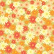 Seamless flower background — Stock Vector