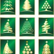 Stockvektor : Set of fir tree