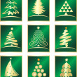 Stock Vector: Set of fir tree