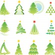 Set of christmas tree — Stockvectorbeeld