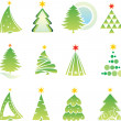 Set of christmas tree — Stock Vector