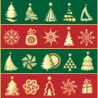 Vector background christmas tree — Stockvectorbeeld