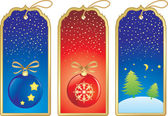 Christmas label — Vector de stock