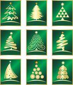 Set van fir tree — Stockvector