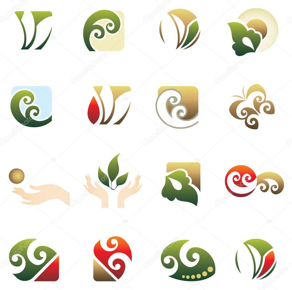 Set of logo design elements u2014 Stock Vector u00a9 Tihon6 #2190109