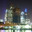 Night in Moscow-city — Stock Photo
