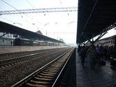 Platform of the Samara railway station — Stock Photo
