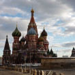 St Basils Cathedral in Red Square - Stock Photo
