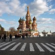 St Basils Cathedral in Red Square. Zebra - Stock Photo
