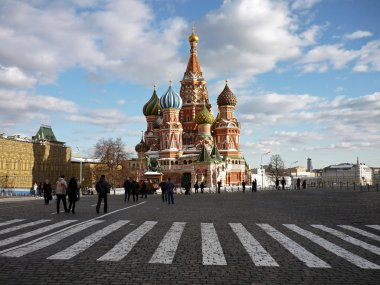 St Basils Cathedral in Red Square. Zebra