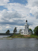 White church in island — Stock Photo