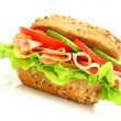 Fresh sandwich - Stock Photo