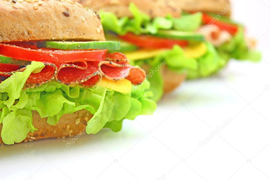 Fresh sandwich with vegetables — Stock Photo #1893117