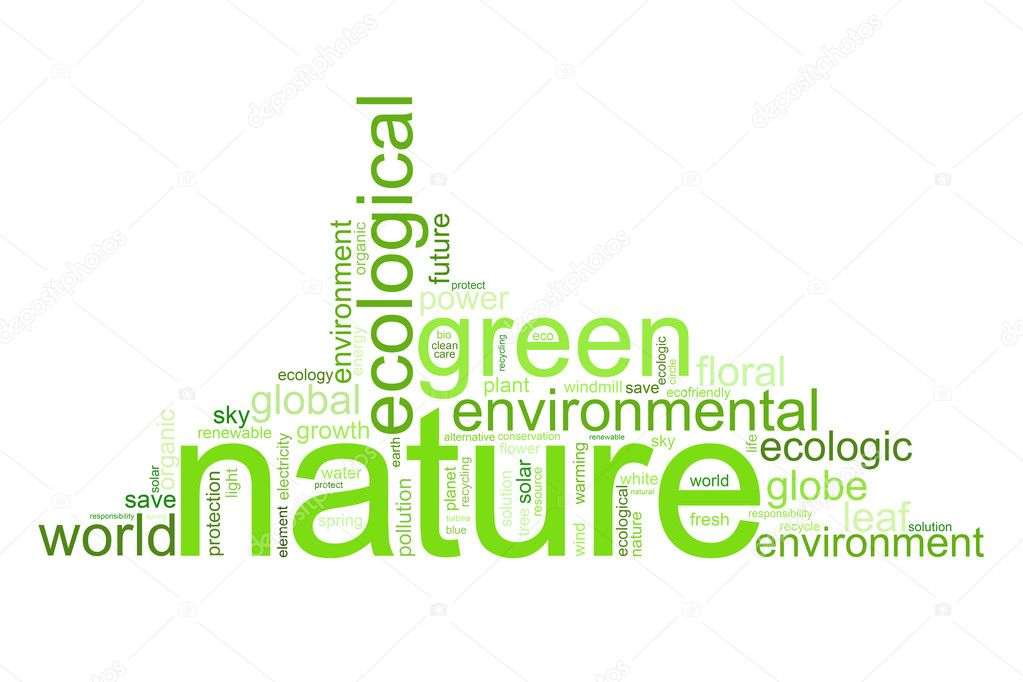 Illustration with many different terms like natur, environment or future — Stock Photo #1927054