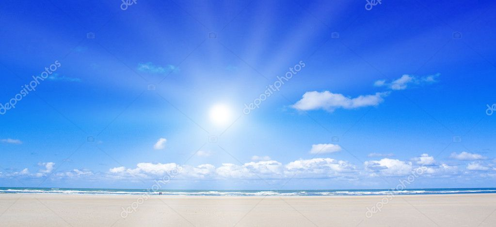 Beautiful beach with sunlight  Stock Photo #1927918