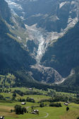 Valley of grindelwald — Stock Photo