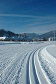 Cross ski track — Stock Photo