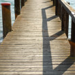Wooden catwalk — Stock Photo