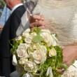 Bride and roses — Stock Photo