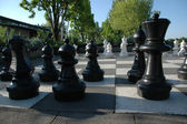 Outdoor chess — Stock Photo
