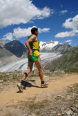 Mountain runner — Stock Photo