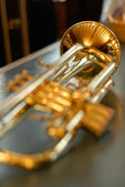 Playing trumpet — Stock Photo