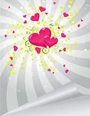 Pink hearts — 图库矢量图片