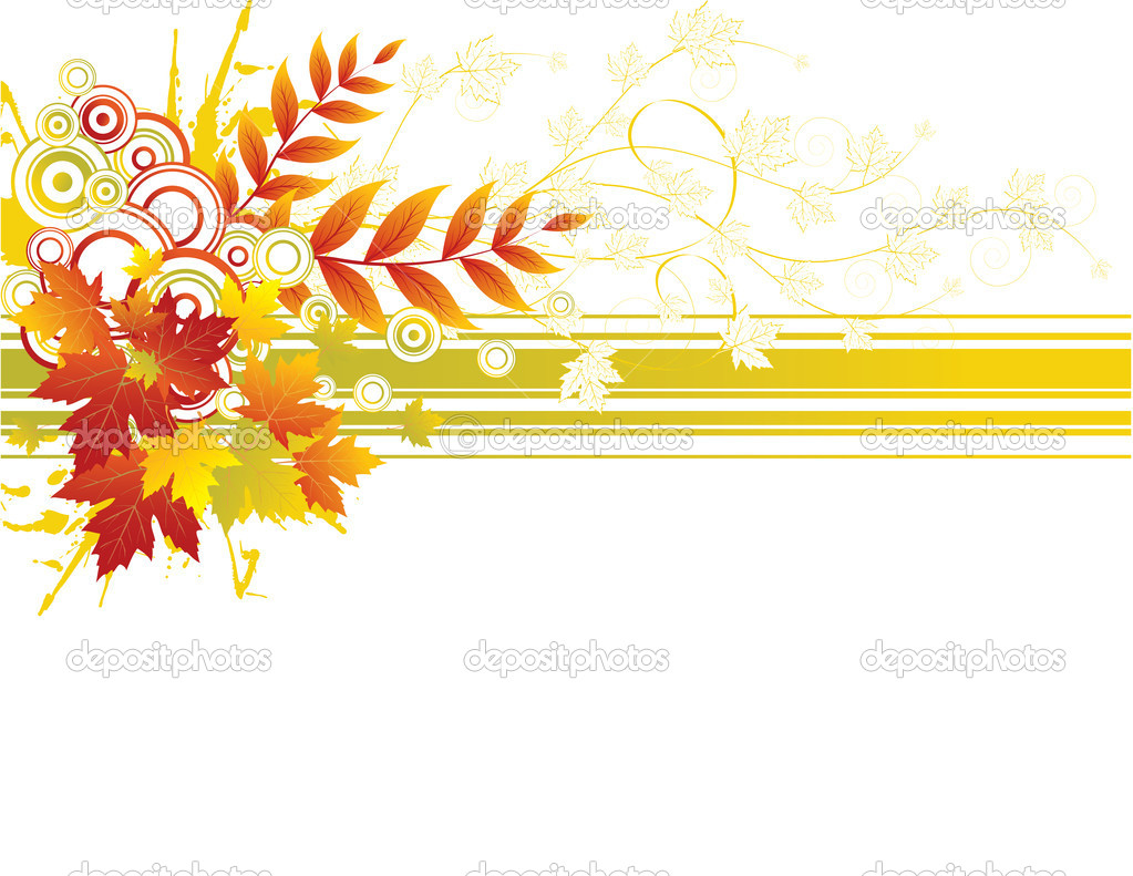 Autumn background with yellow leaves, vector — Stock Vector #1950029